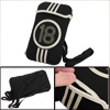 Beige Black Girls Boys Adjustable Straps Number Stripe Prints Cross-Body Bag