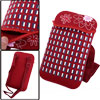 Girls Plaids Floral Prints Adjustable Strap Burgundy Cross-Body Bag