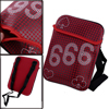 Dark Red Children Adjustable Straps Spade Prints Cross-Body Bag