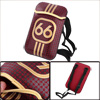 Girls Adjustable Strap Number Prints Dark Red Cross-Body Bag