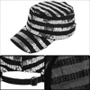 Boys Girls Paillettes Decor Stripes Detail Black Ball Cap