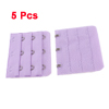 5 Pcs 3 x 3 Hooks Extension Bra Extender Strap Hook Purple for Women Ladies