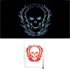 Auto Car Fire Skull Head Pattern Sound Music Activated Sticker 40 x 30cm
