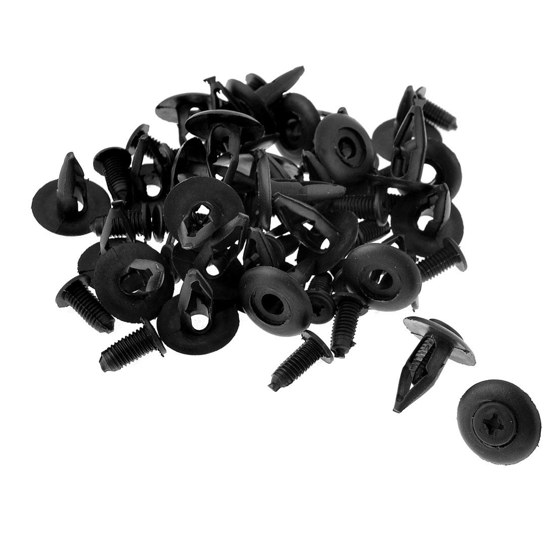 30pcs Black Plastic Rivets Door Trim Retainer Clip for Car Bumper Fender