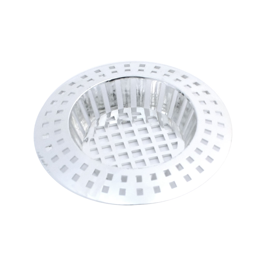 Silver Tone Kitchen Basin Plastic Mesh Sink Garbage Strainer