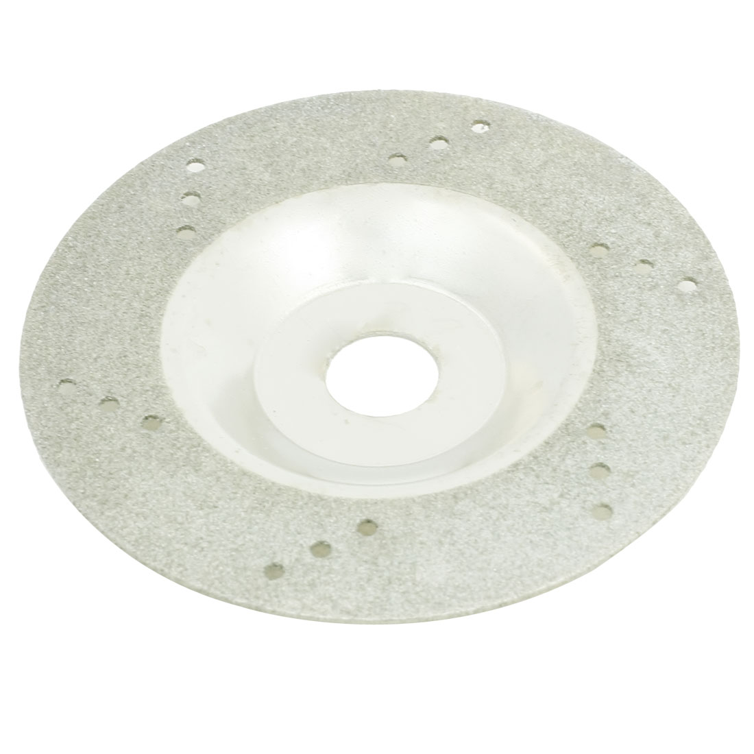 100 OD 16 Inner Dia Polishing Tool One Side Diamon Cutting Wheel Silver Tone
