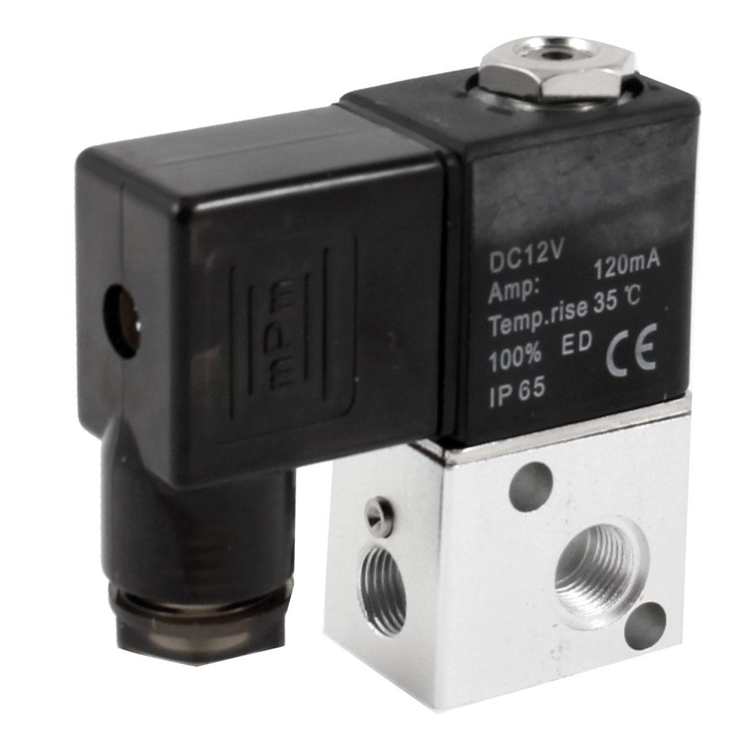 3V1-06 2 Position 3 Way Pneumatic Solenoid Valve DC 12V 120mA
