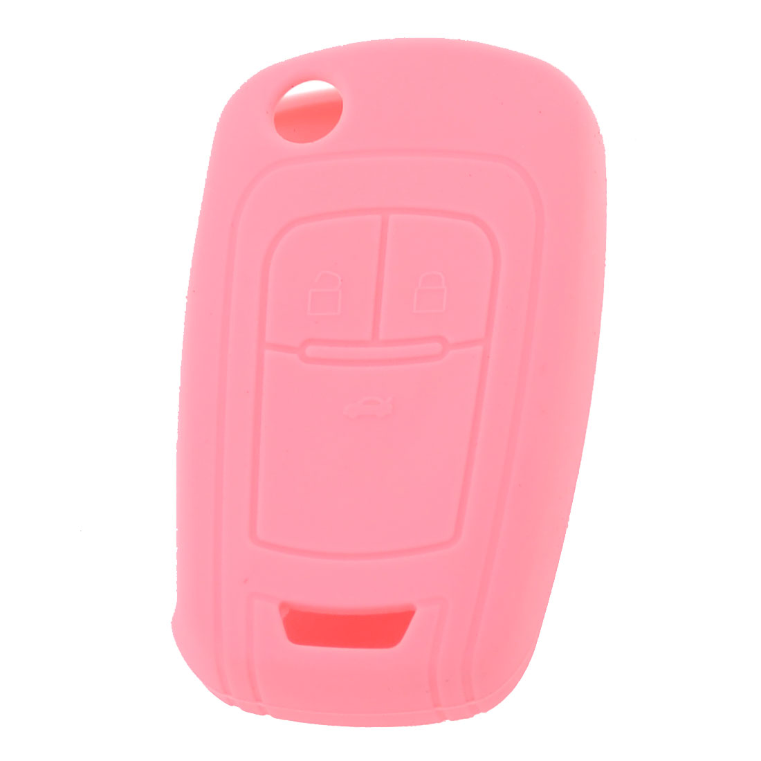 Pink Silicone Car Remote Key Case Holder Cover Three Buttons for Buick