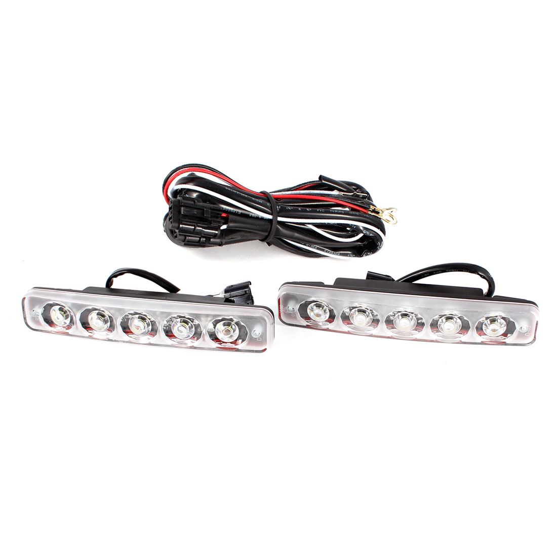 2 Pcs Super White 5 LED DRL Daytime Running Light Lamp DC 12V