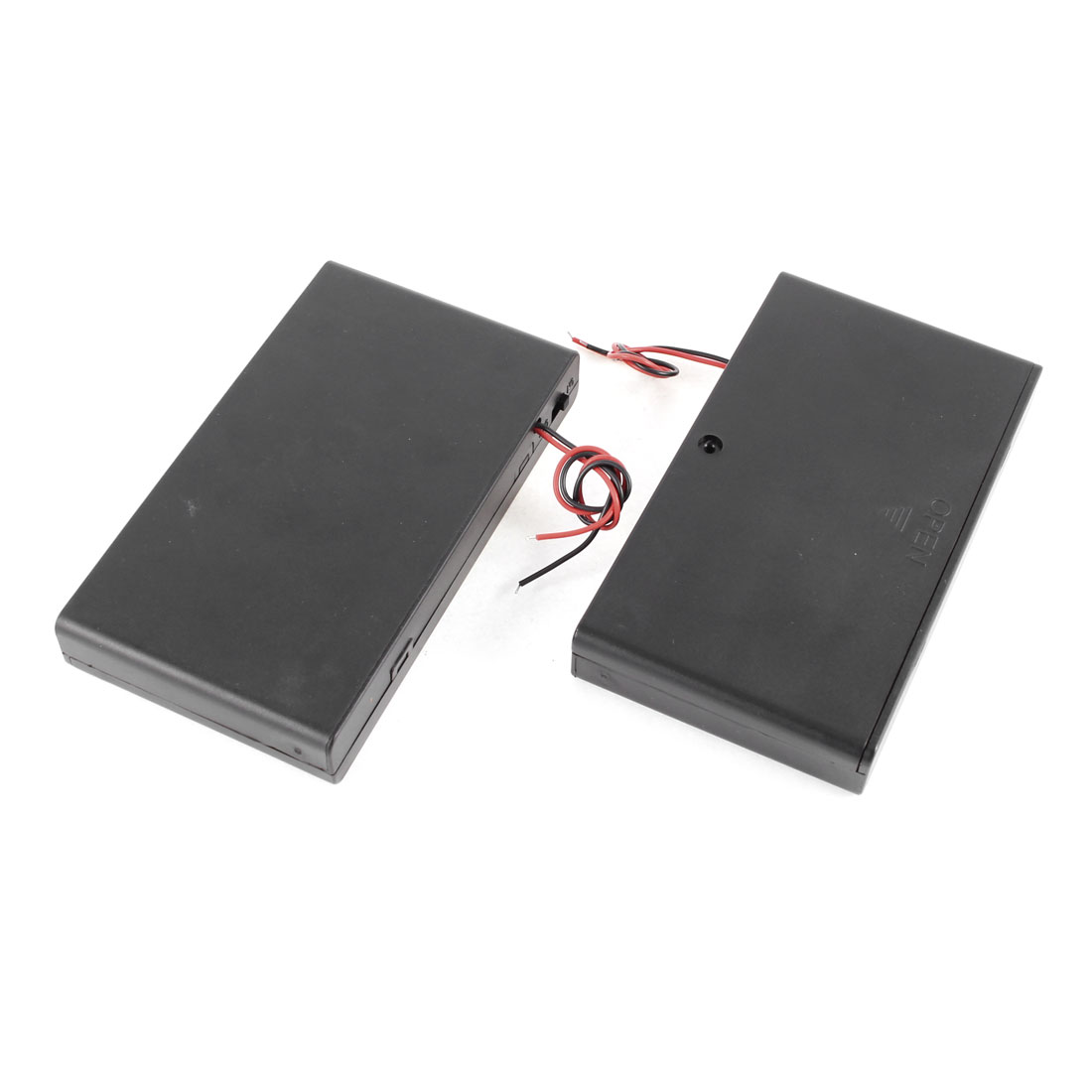 2 Pcs 8 x AA 12V Batteries Battery Holder Case Box Wired ON/OFF Switch w Cover