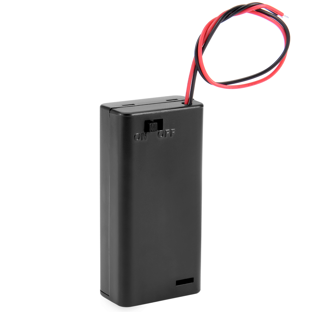 Battery Holder Case Box Slot Wired ON/OFF Switch for 2 x AA 3V Batteries