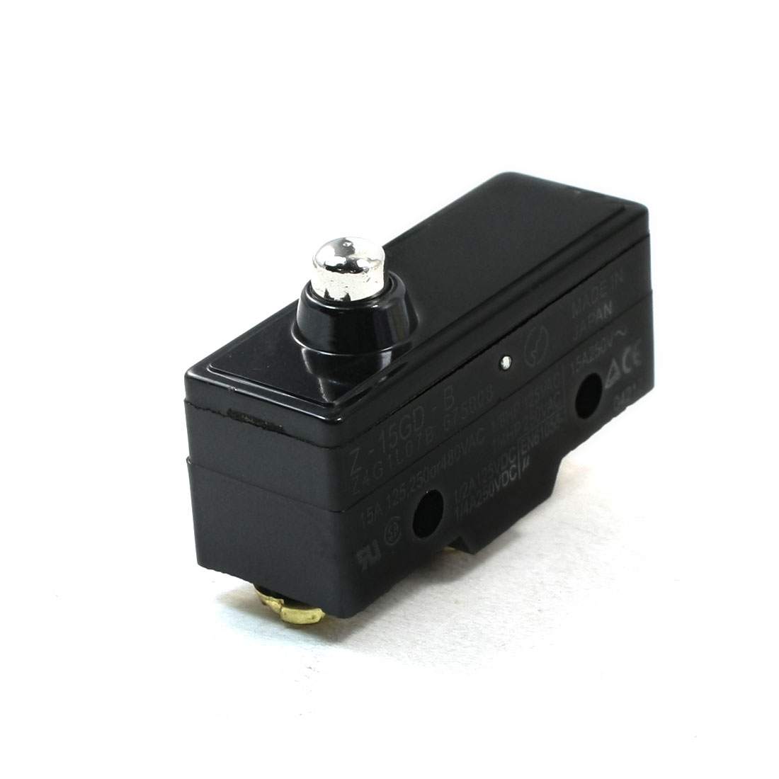 AC250V 15A NO NC Momentary Short Pin Push Plunger Micro Switch