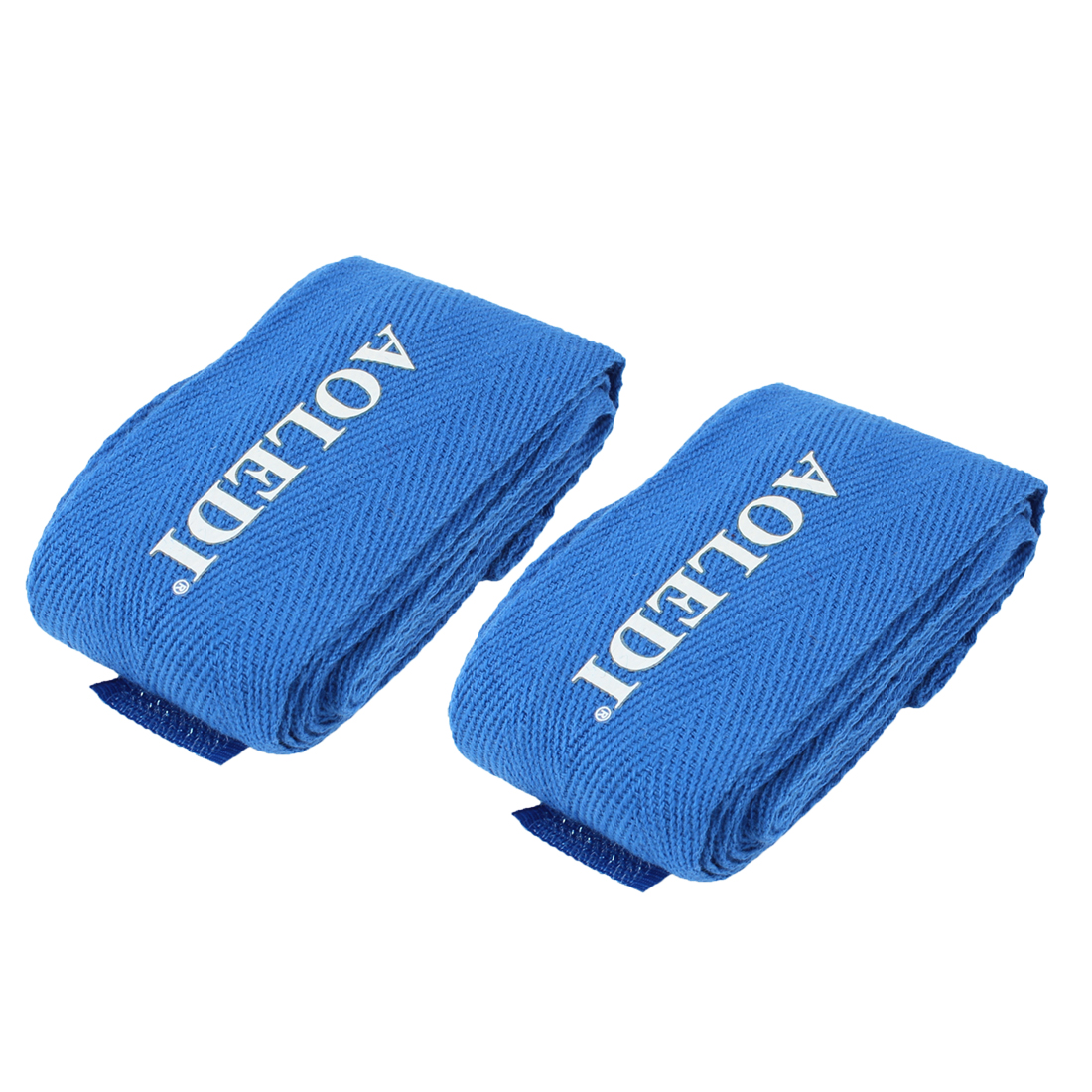 Pair Blue Wrap Around Boxing Wrist Hand Band Bandage Protector