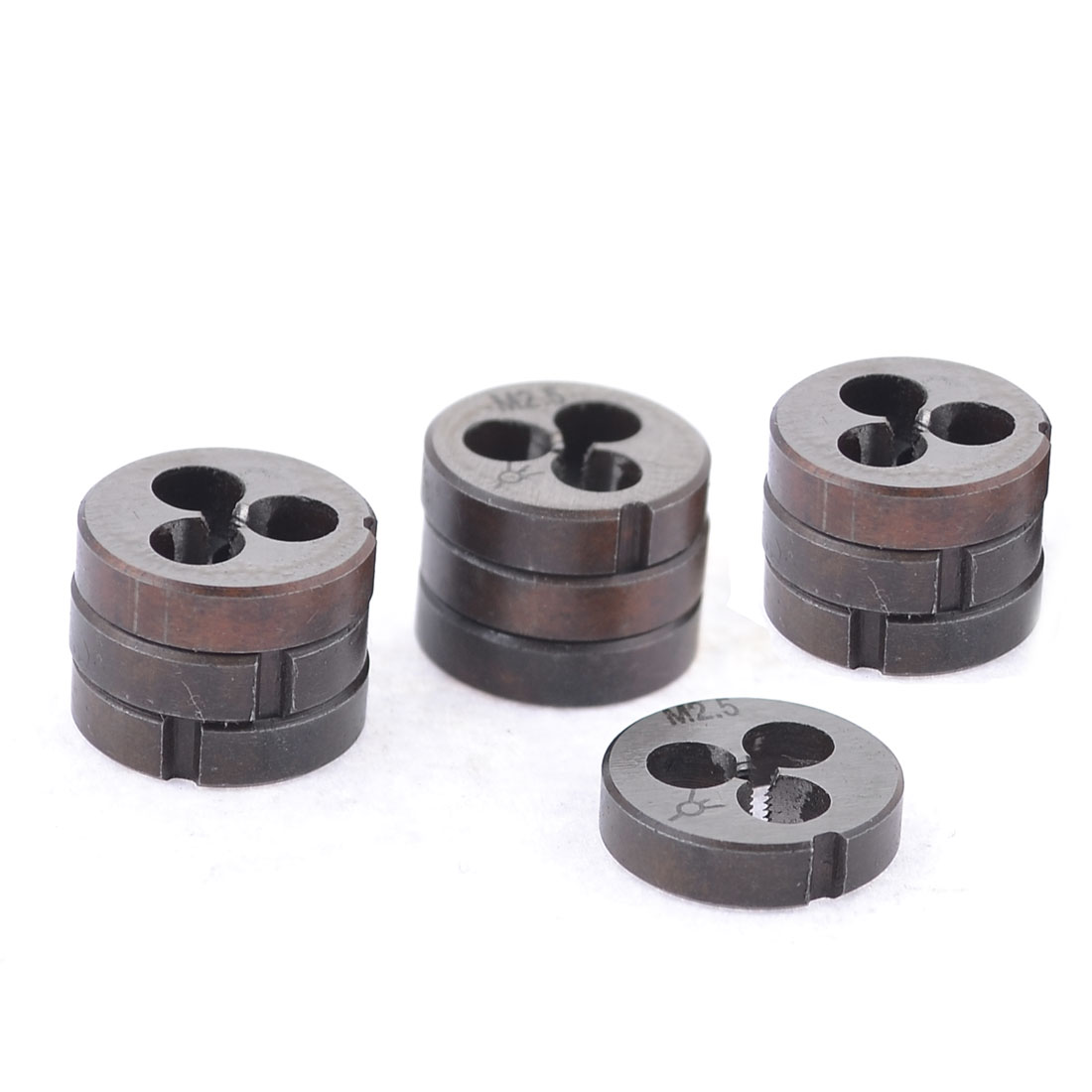 10 Pcs 16mm Outside Diameter 2mm Pitch Circular Shape Round Thread Die