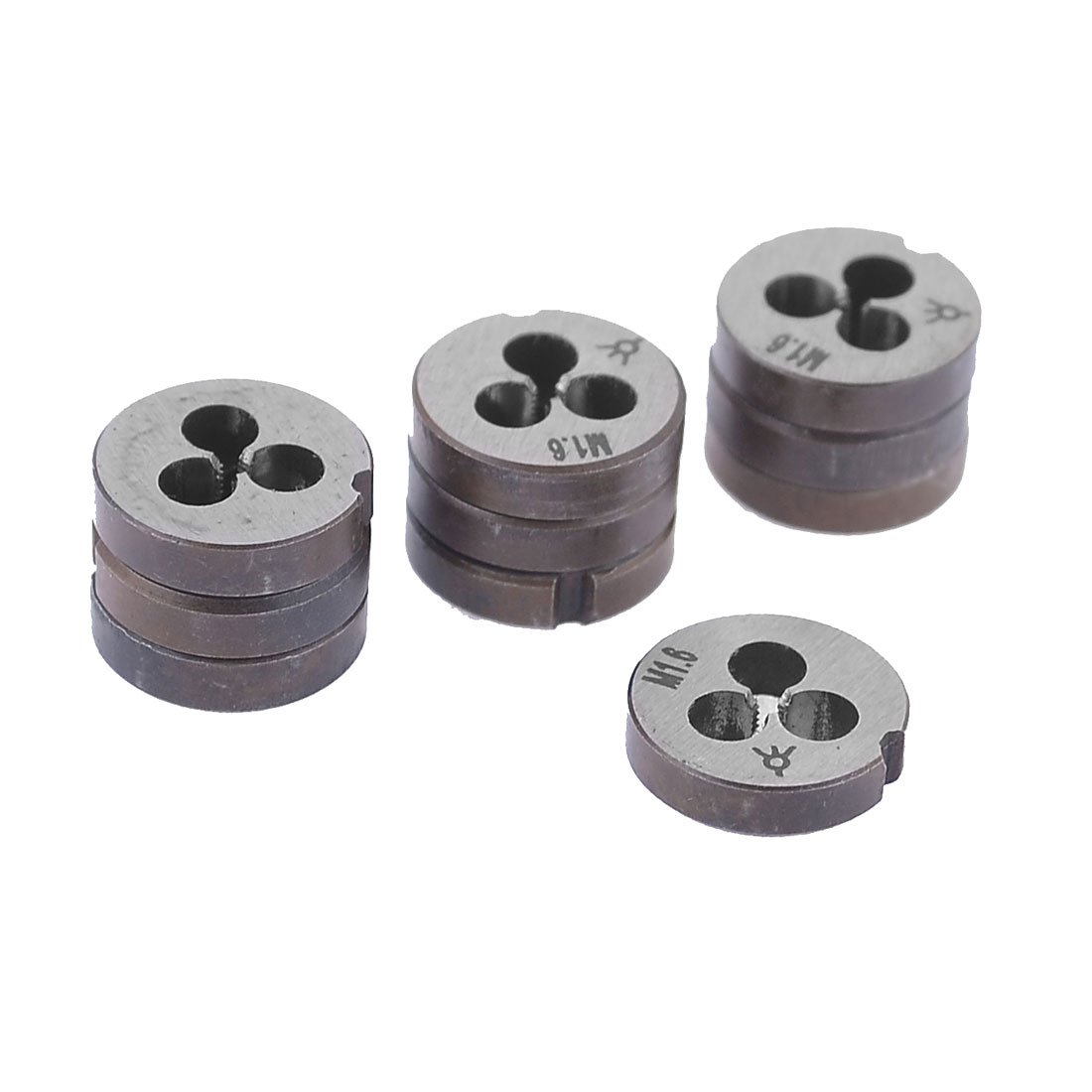 M1.6 1.45mm Pitch 12mm OD Hand Tool Round Threaded Die 10 Pcs