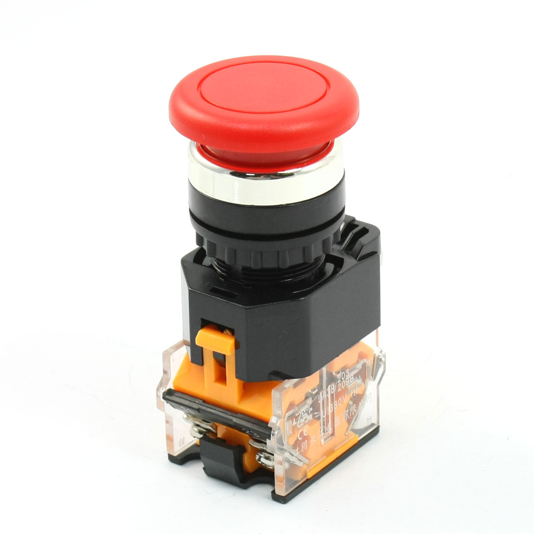 Panel Mounted 2 Position Momentary Mushroom Pushbutton Switch 380V 10A