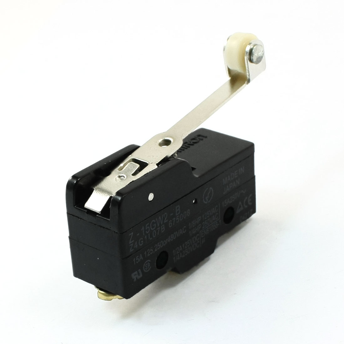 AC 125V/250V 15A Hinge Roller Lever SPDT Micro Limit Switch Microswitch
