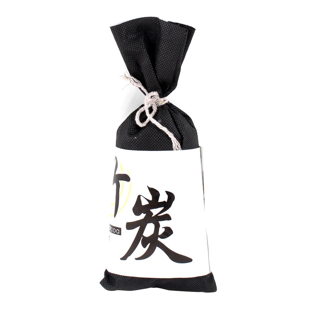 Auto Car Deodorant Bamboo Charcoal Bag Holder Decor Air Freshener Black