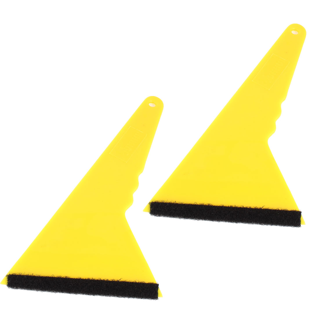 Car Window Sun Visor Film Yellow Plastic Scraper Tool 25cm Long 2 Pcs