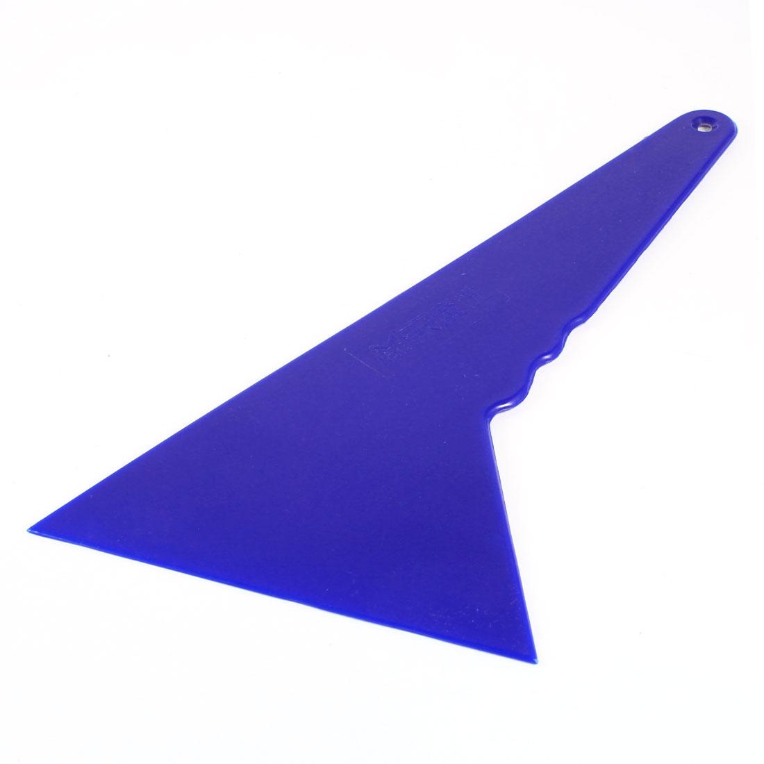 "Car Auto Blue Plastic Windscreen Film Scraper Tool 9"" Length"
