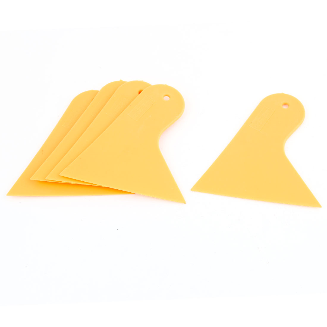 5 Pcs Cars Yellow Plastic Blade Window Windshield Film Scraper