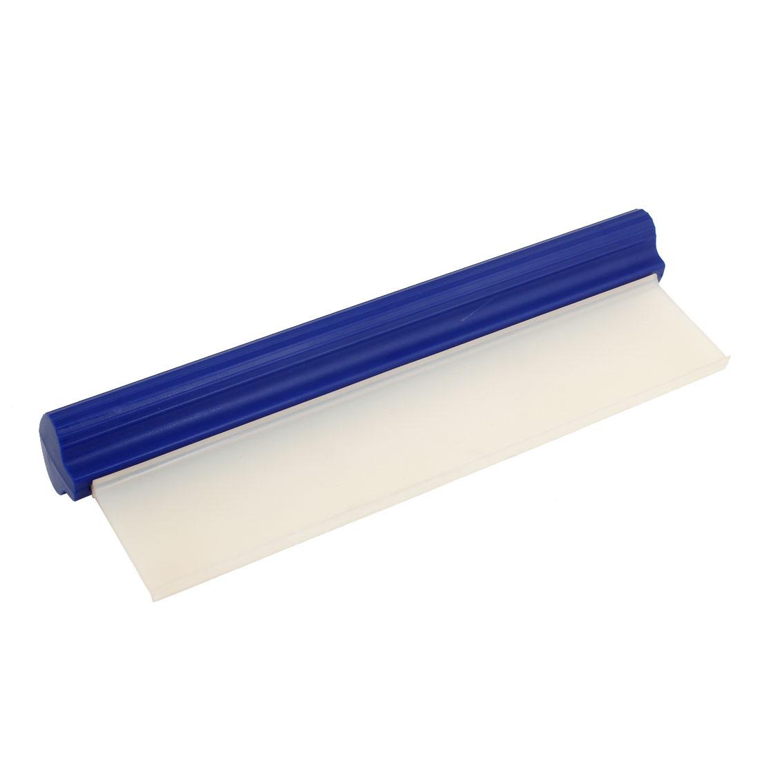 Blue Handle Clear Blade Car Windshield Window Bubble Scraper Cleaner Tool