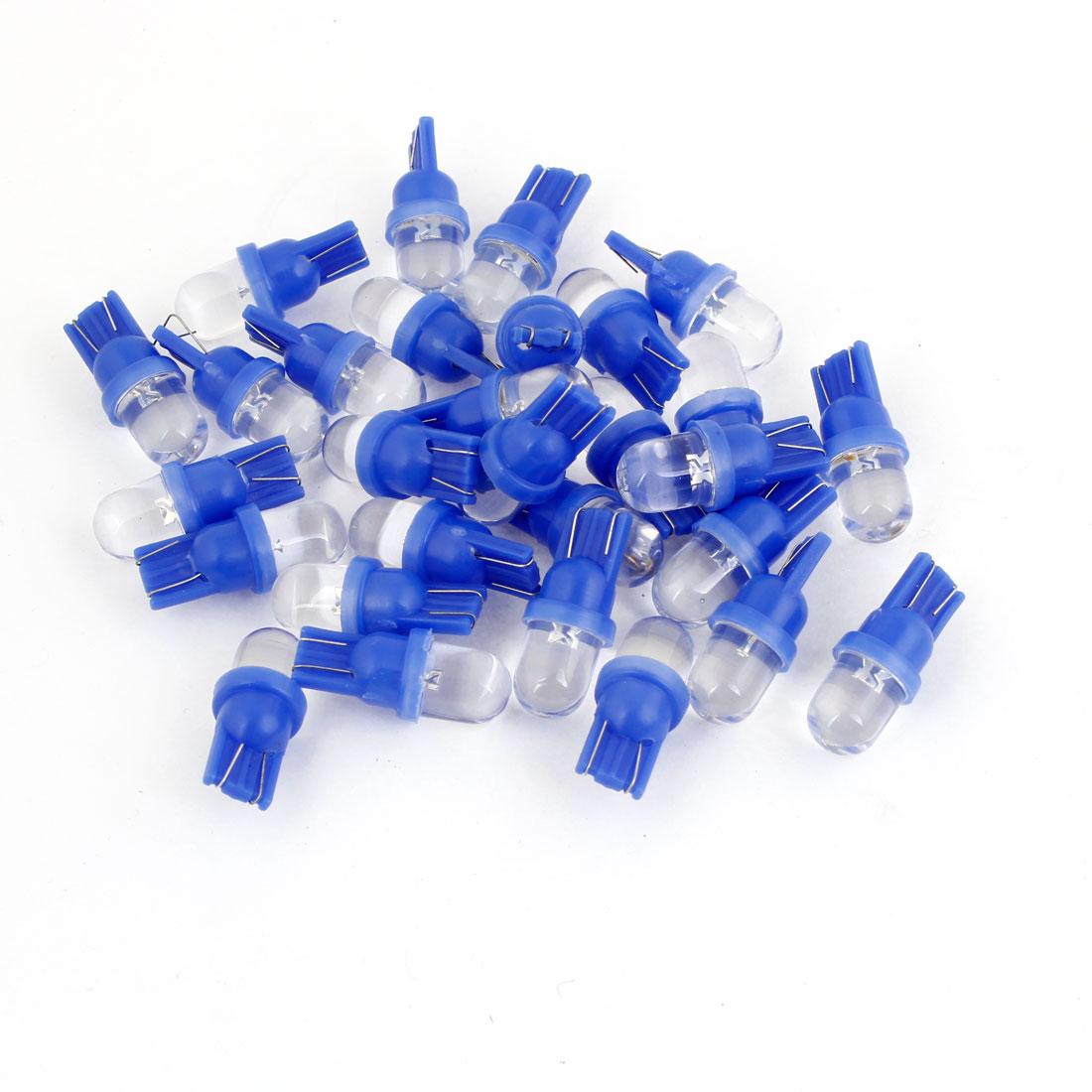 30 Pcs Spare Parts Blue T10 W5W LED Lamp Dashboard Light Bulb for Car internal