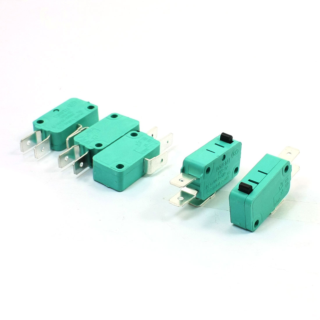KW3-OZ 16A 250VAC SPDT NO NC Basic Snap Action Micro Switch Green 5 Pcs
