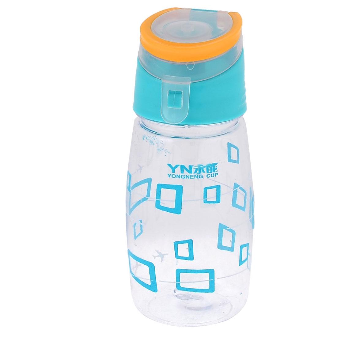 Cyan Clear Plastic Airtight Liquid Water Cup Bottle 450ml