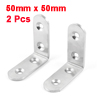 2 Pcs 50mm x 50mm Stainless Steel Corner Brace Joint Right Angle Bracket