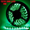 Auto Decorative Green 1210 SMD 300-LED Strip Light Lamp Decor 5M 12V