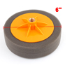 "Yellow Plastic Dark Gray Sponge Wax Waxing Polishing Wheel 6"" Dia for Car"
