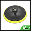 "Yellow Black 5"" Dia. Cleaning Tool Threaded Polishing Wheel for Car Auto"