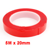 Vehicles Car 5m x 20mm Double Sided Adhesive Clear Tape Weatherstrip Seal