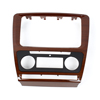 Car Multifuction Audio Stereo System Holder Frame Mahogany for 2013 Octavia
