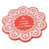 House Office Silicone Milk Tea Cup Mug Bowl Mat Pad Coaster Orange Red