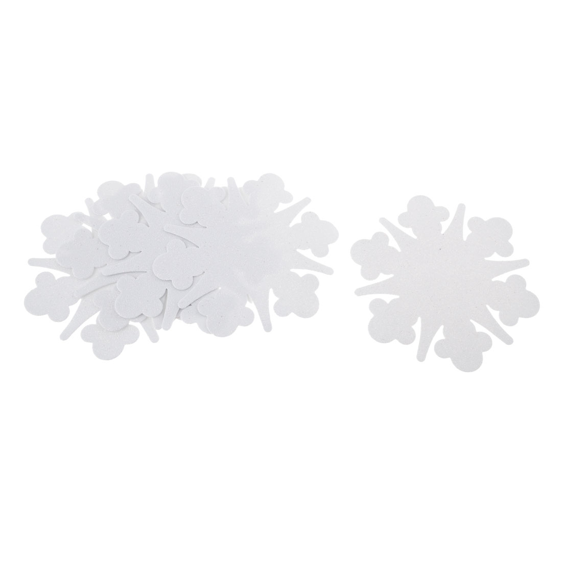 White Glittery Snowflakes Design Foam 3D Wall Sticker DIY Decal 5 Pcs