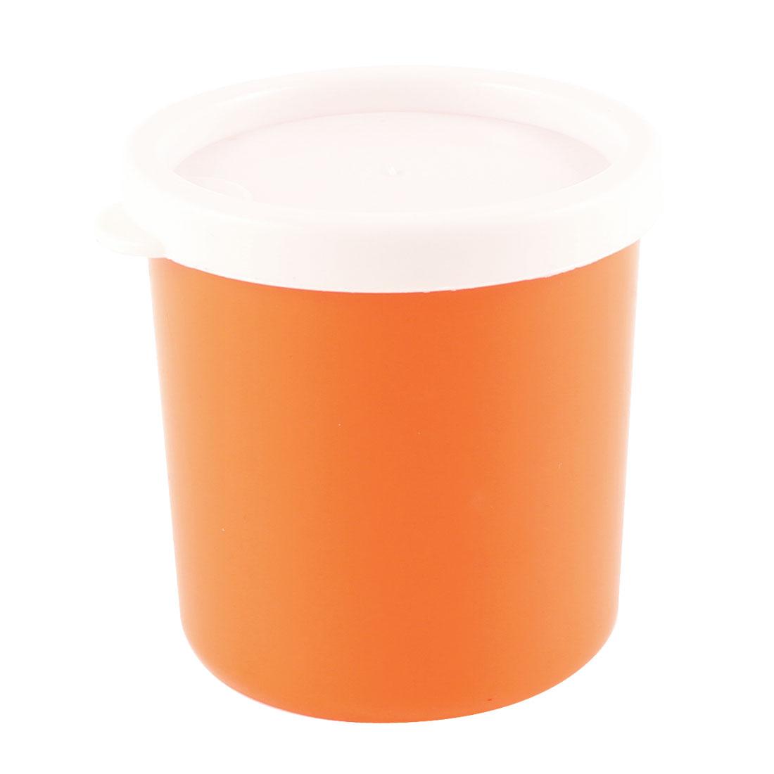 Compact Orange Plastic Round Mini Preservation Keeping Fresh Box 210ml