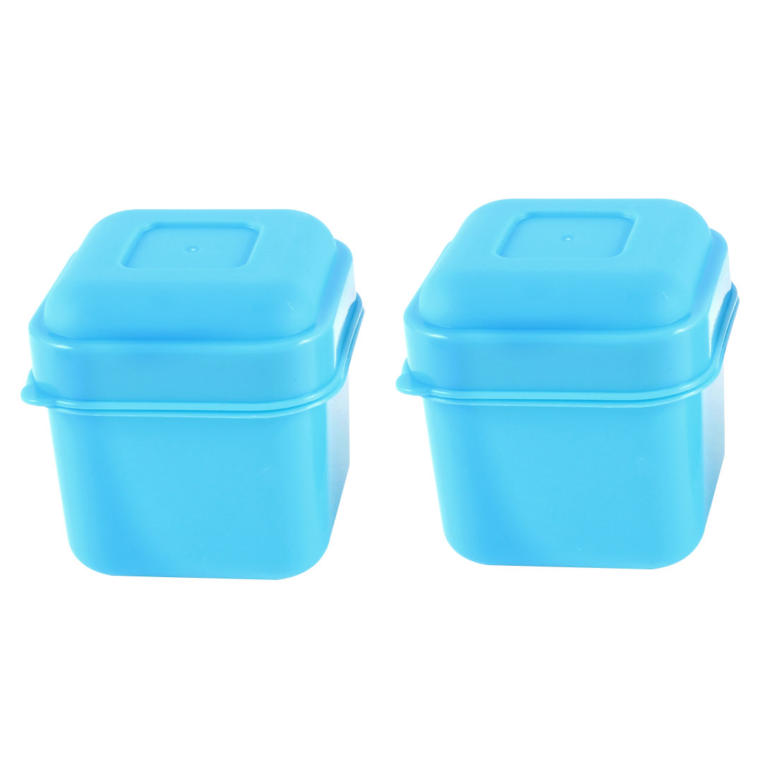 2 Pcs Blue Plastic Square Mini Preservation Keeping Fresh Box 100ml