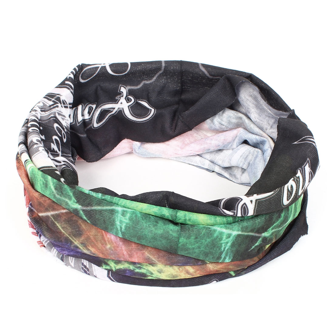 Letter Printed Multifunction Seamless Wear Neck Warmer Colorful Scarf
