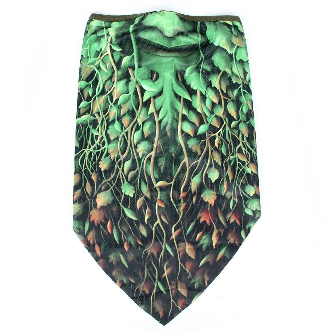 Elastic Cuff Green Plant Demon Pattern Cycling Motorcycle Half Face Mask Scarf