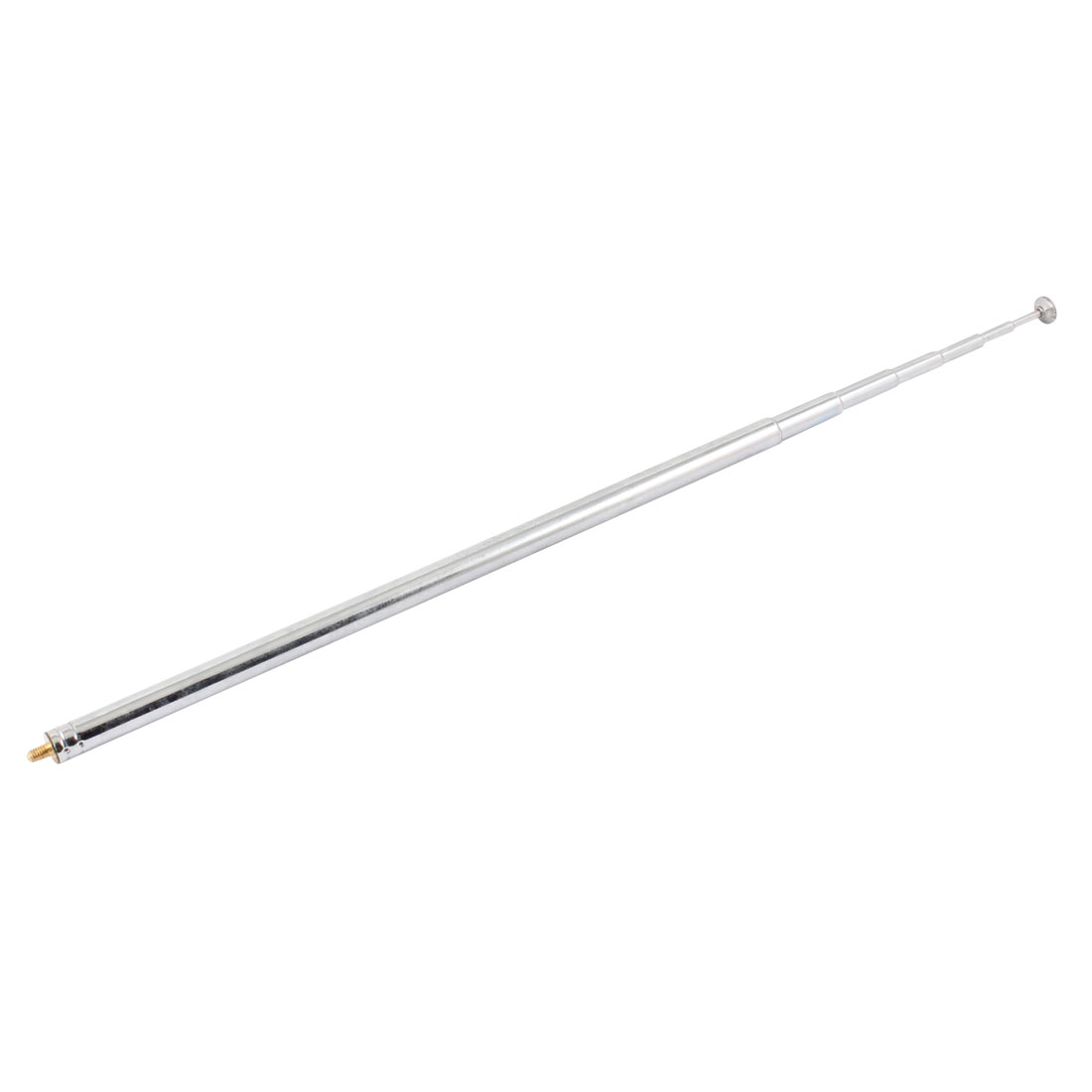 Steel Rod 7 Sections TV Telescopic Antenna Aerial 110cm Long