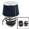 "Blue Black Auto Refit Parts 63mm 2.5"" Dia Electric Motor Suction Worm Gear Air Filter"