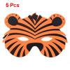 Orange Red Black Halloween Fancy Party Tiger Face Mask 5 Pcs