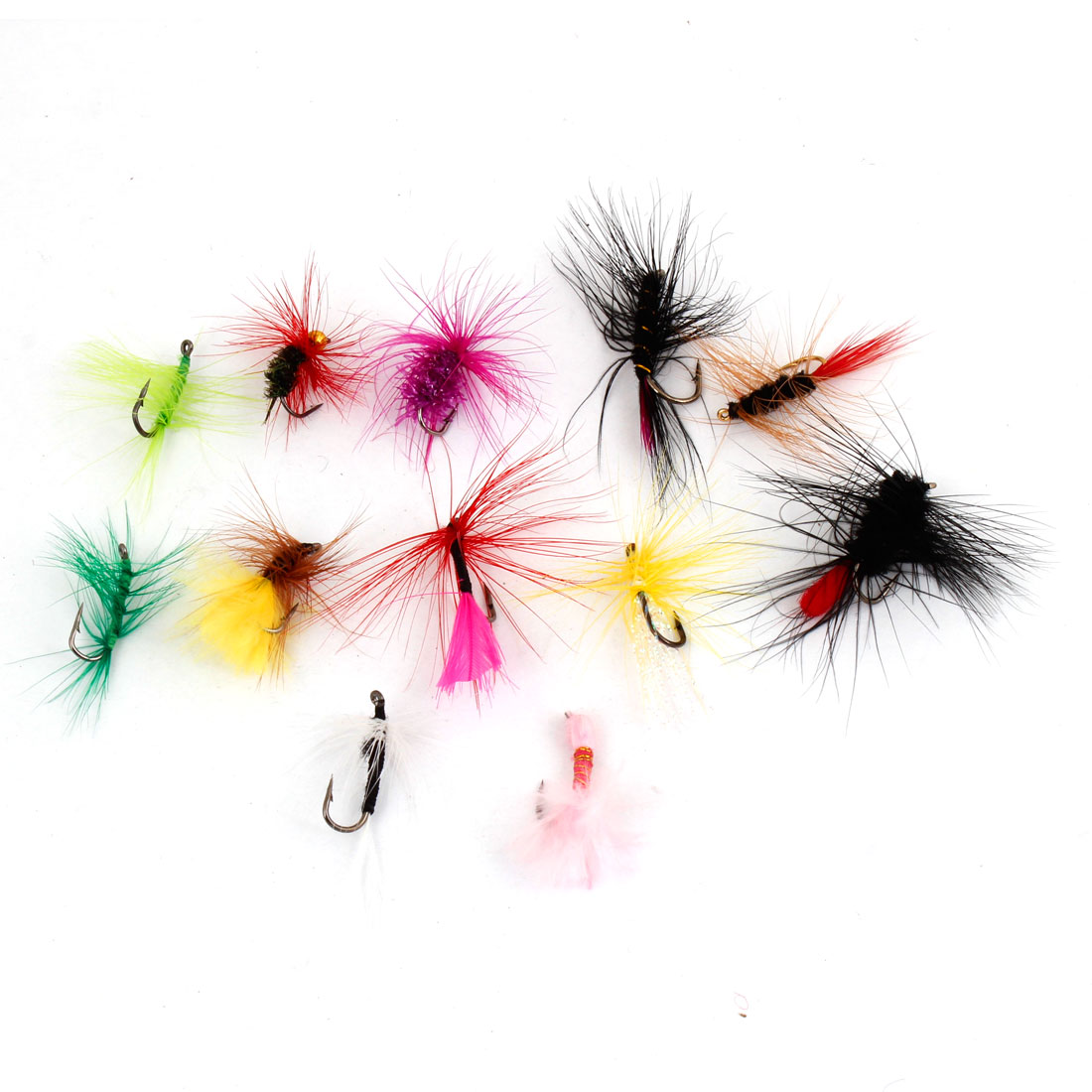 12 X Colorful Insect Butterfly Trout Mayfly Flies Hooks for Fishing