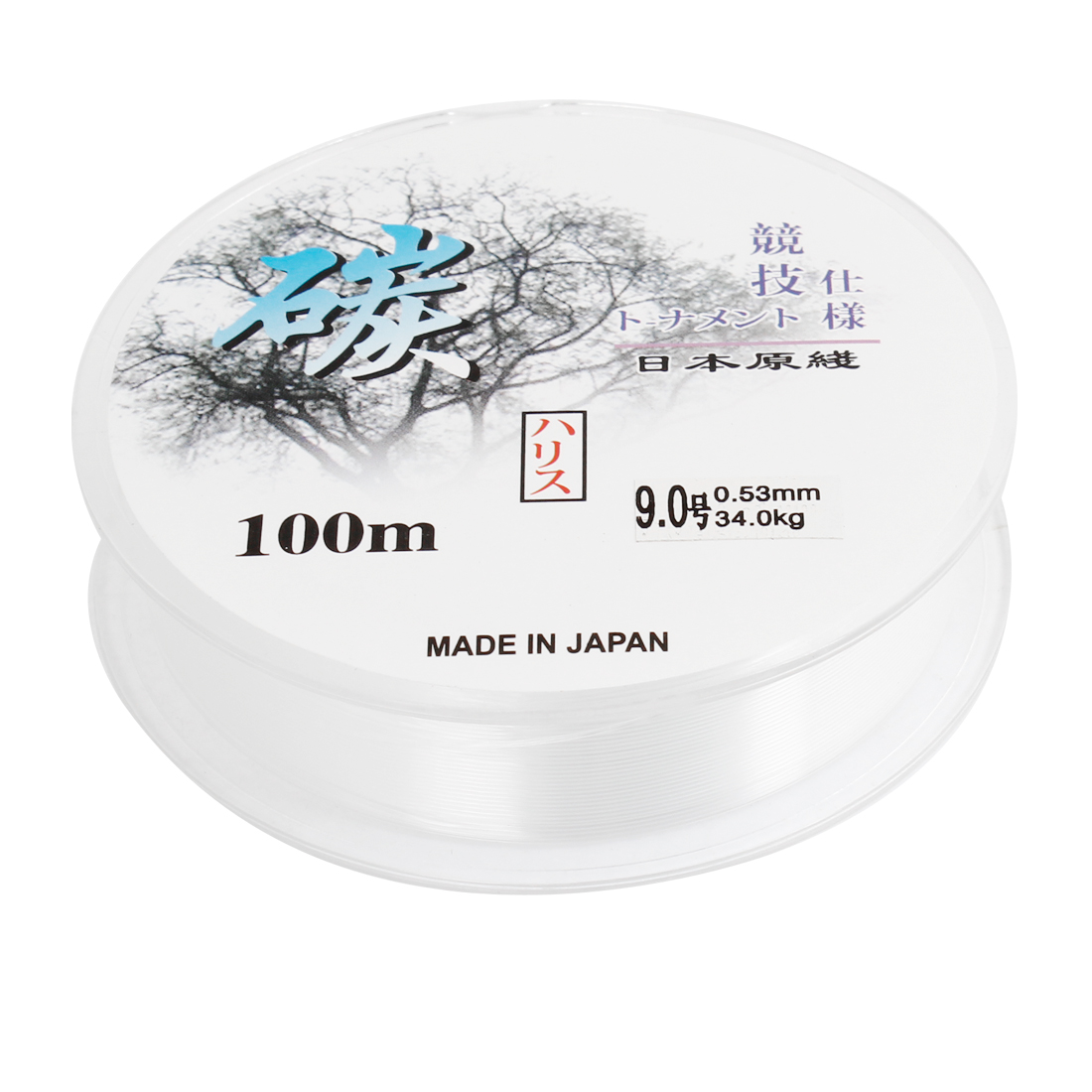 Angling White 0.53mm Dia 34Kg String Fishing Line Spool 100M 328Ft