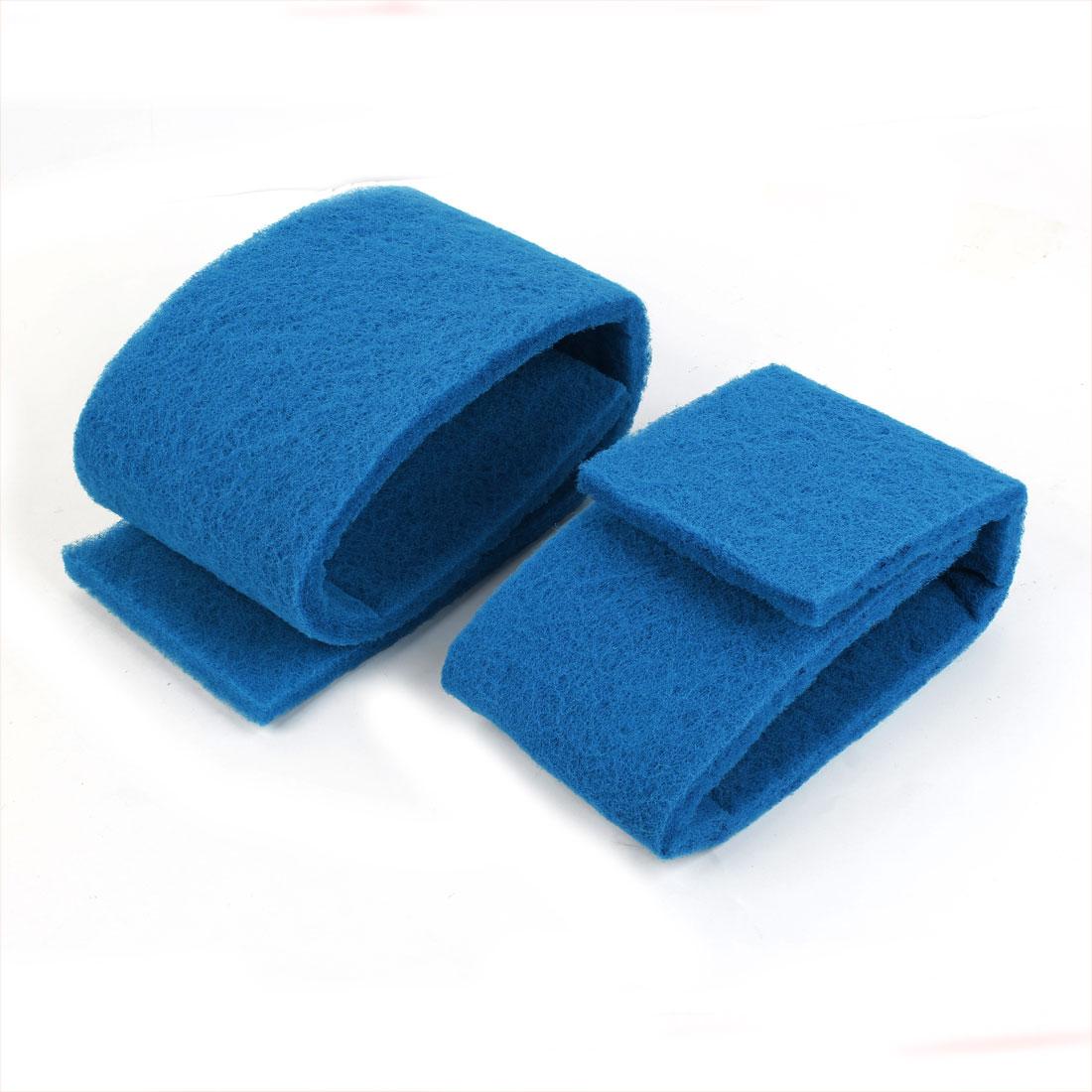2pcs Blue Rectangle Recycling Biochemical Filter Sponge for Aquarium