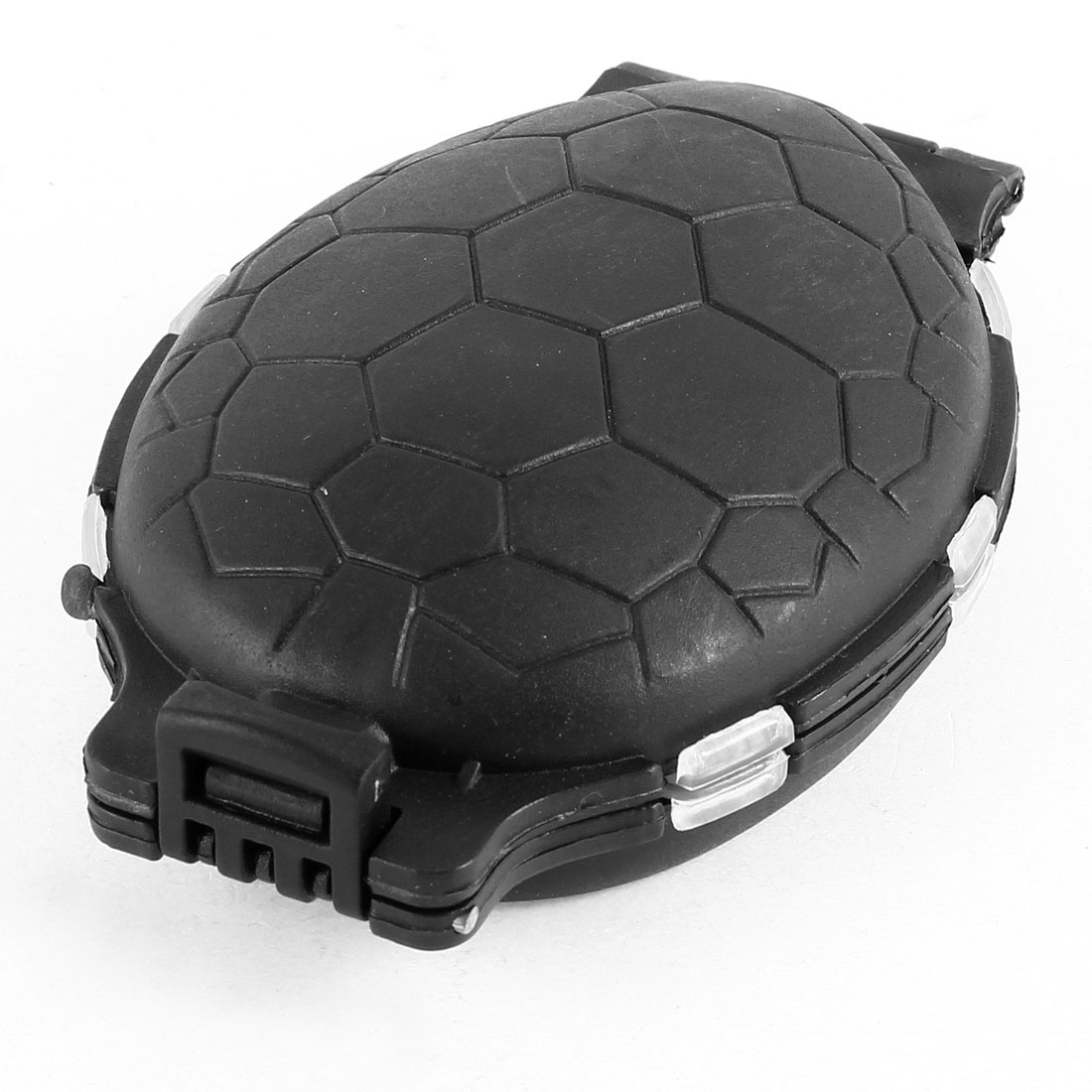 Black Clear 12 Sections Plastic Tortoise Style Fishing Case