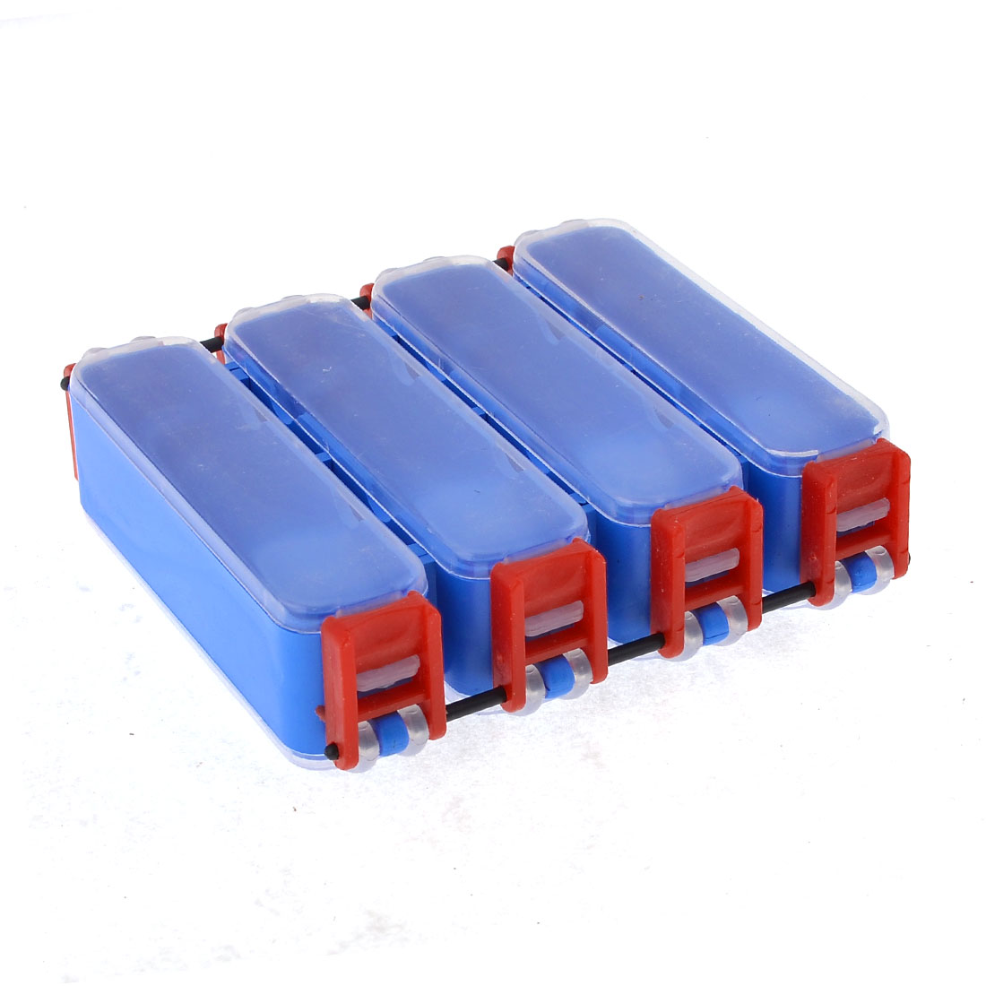 Blue 4 Compartments Fishing Lure Bait Hooks Storage Box Case