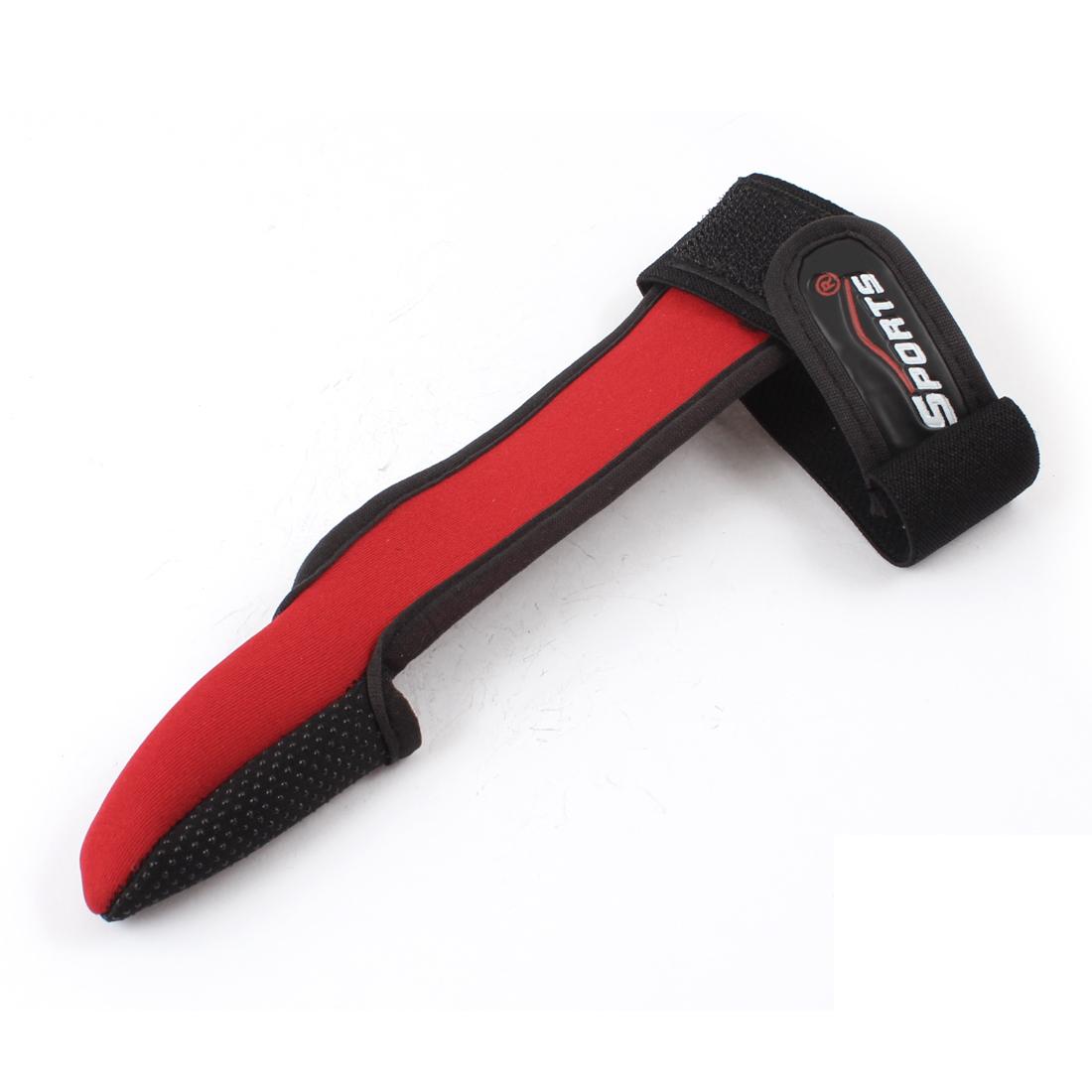 Red BlacK Neoprene Hook Loop Closure Single Finger Fishing Glove